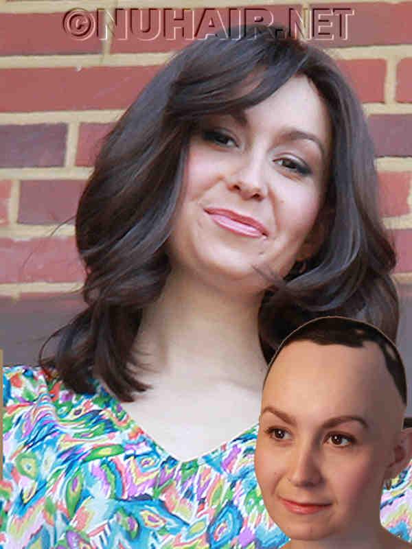 Brown Hair Styled Wig Hairstylist Job Dallas DFW TX